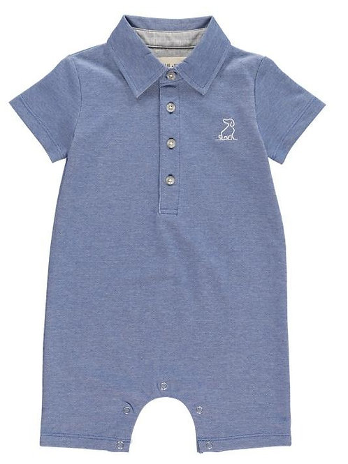 Me & Henry Pique Polo Romper