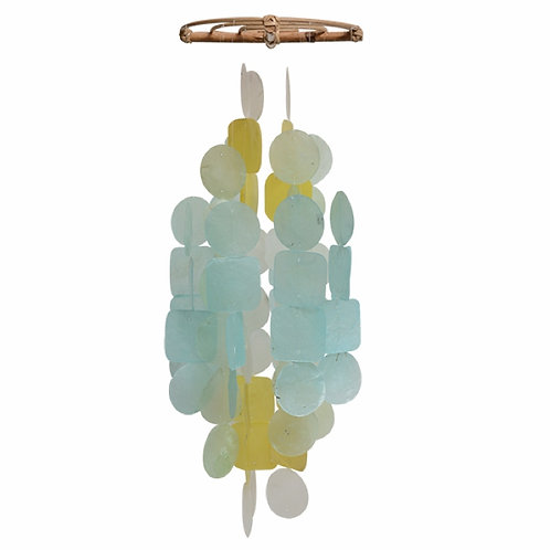 Capiz Aqua Yellow Chime/Mobile