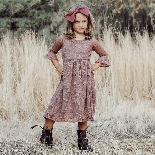Mauve Jane Eyre Knee Length Dress