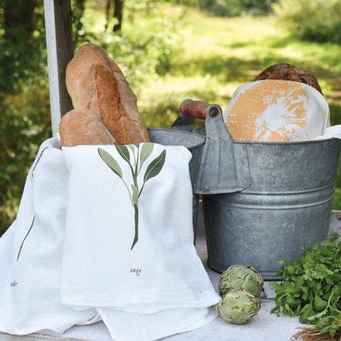 Sage Flour Sack Tea Towels