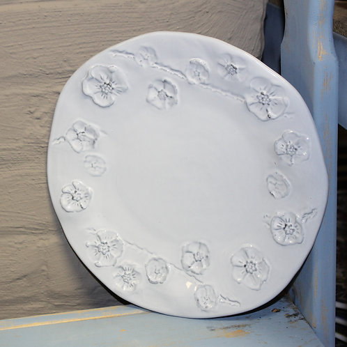 White Gardenia Salad Plate Set of 4