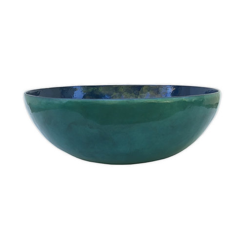 Capiz Water Blue Serving Bowl