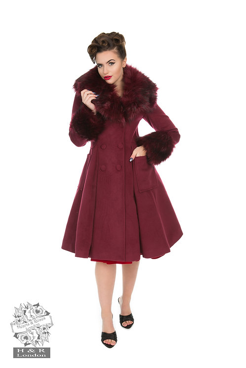 Maroon Swing Coat