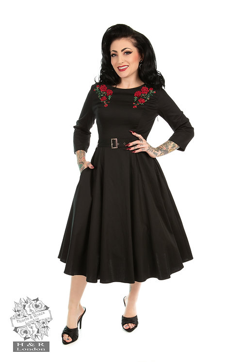 H&R Black Rose Dress
