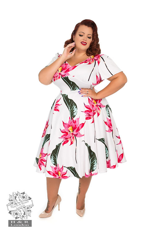 Pink Floral Swing Dress