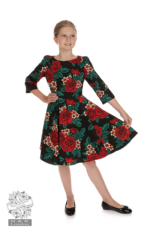 Christmas Floral Swing Dress