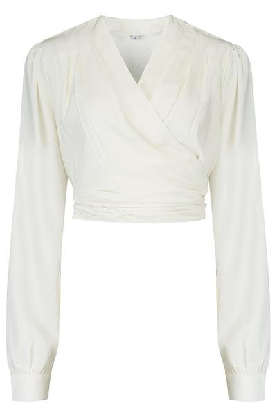 Rock n Romance Darla Wrap Blouse in Antique White