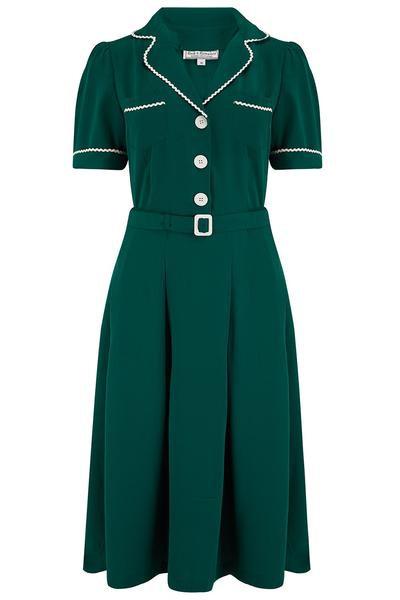 Rock n Romance Kitty Shirtwaister in Green