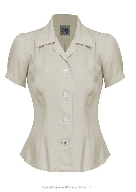 Pretty 40's Blouse in Ivory