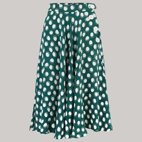 Seamstress of Bloomsbury Polka Dot Skirt