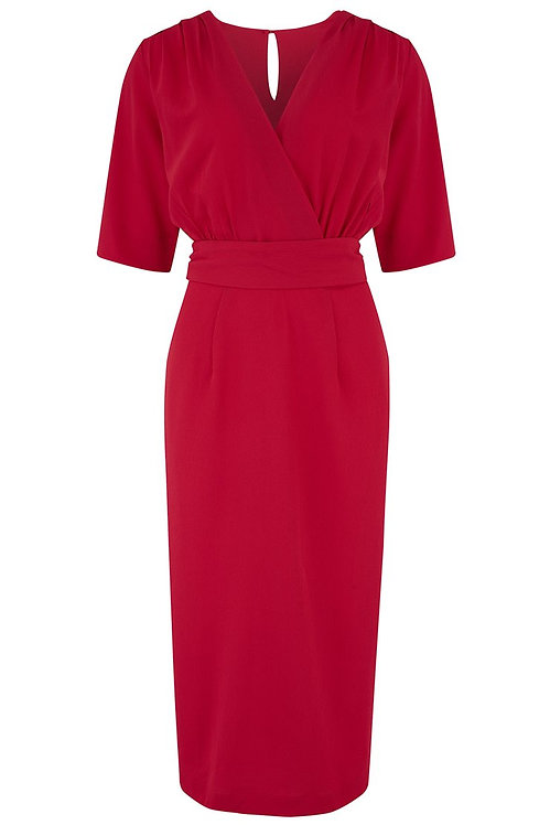 Rock n Romance Evelyn Wiggle Dress in Red