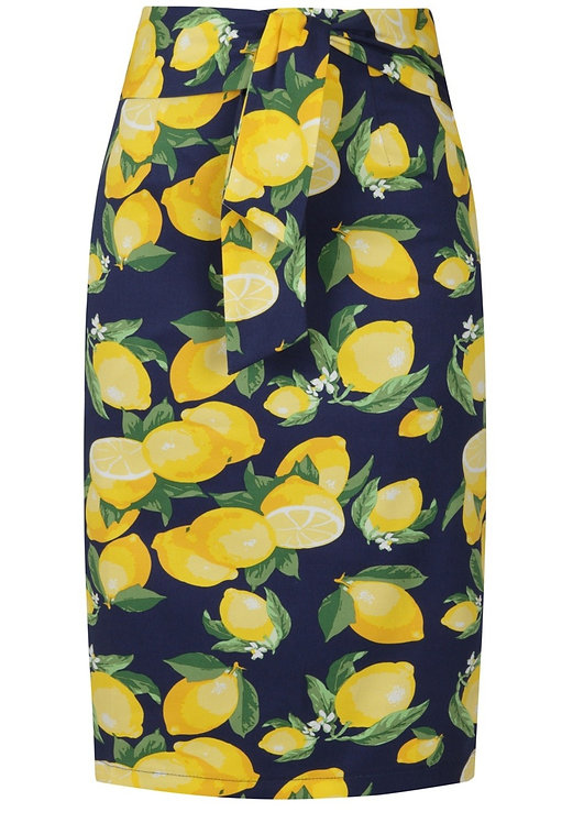 Lemon Wiggle Skirt