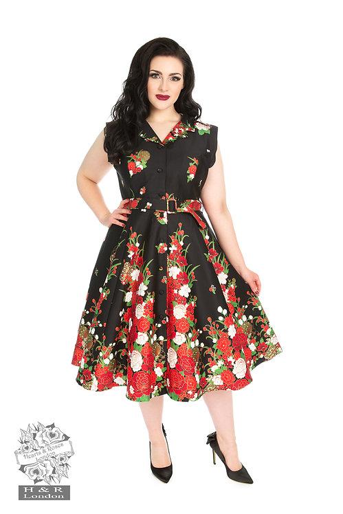 Black Rose Swing Dress