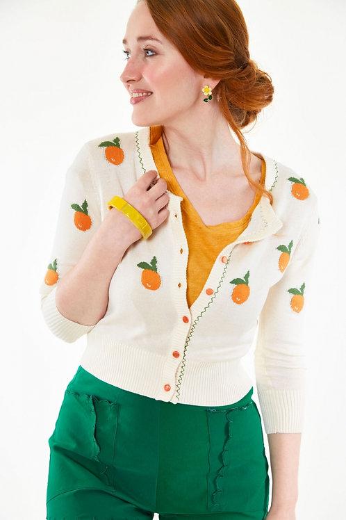 Cream and Oranges Cardigan