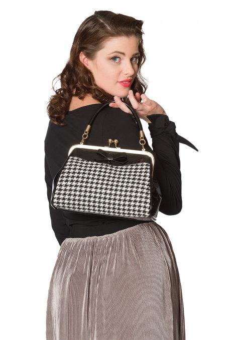 Midi Dogtooth Handbag