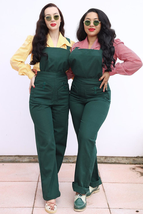 Freddies of Pinewood Home Companion Dungarees in Green
