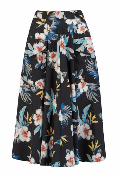 Rock n Romance Black Hawaiian Swing Skirt