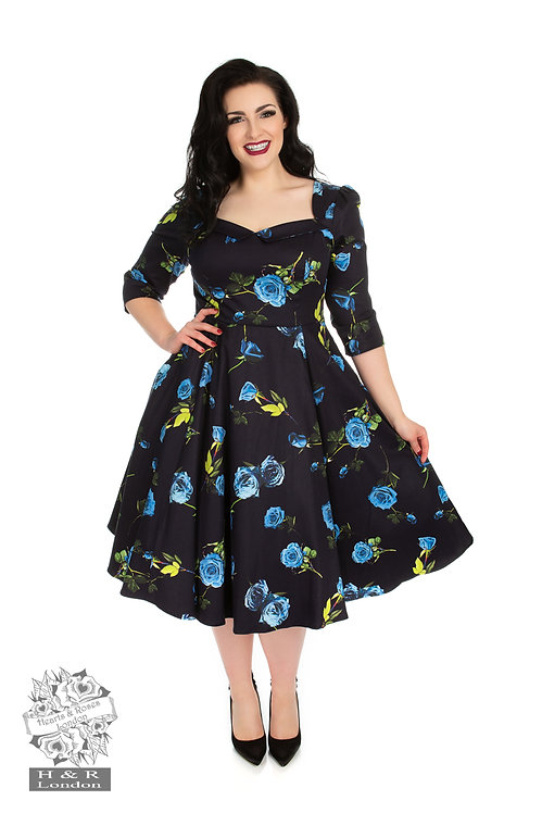 Blue Melody Swing Dress