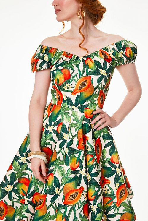 Cherie Tropical Fruit Dress