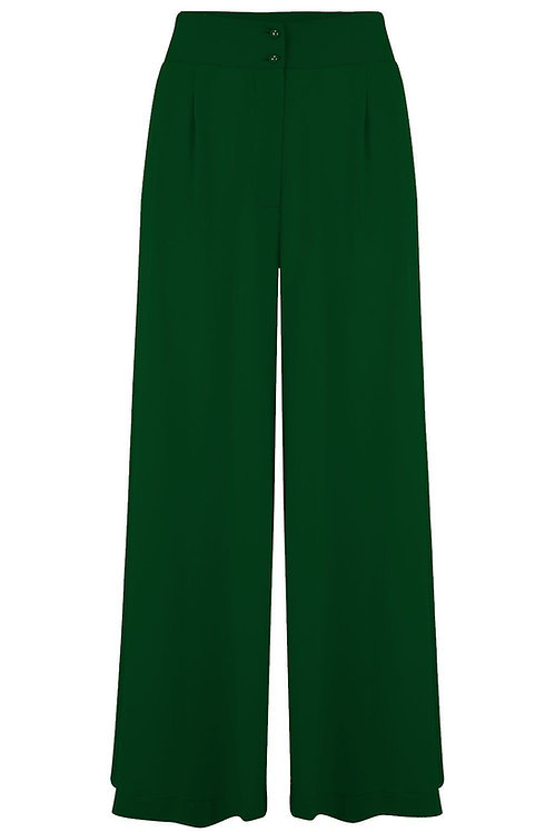 Sophia Plazo Trousers in Green