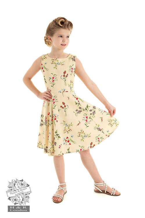 Cream Floral Swing Dress