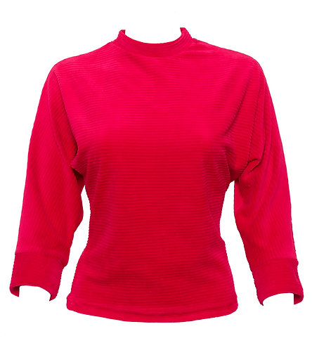 Fuschia Ribbed Cord Top
