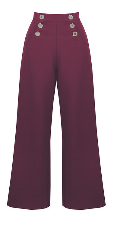 Maroon Sailor Trousers