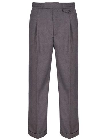 Revival 40's Fishtail Trousers - Slate