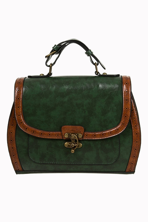 Green/Brown Box Satchel