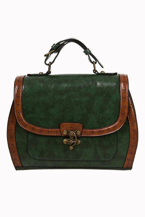 Green/Brown Box Satchel
