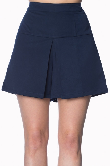 Navy Tennis Style Shorts