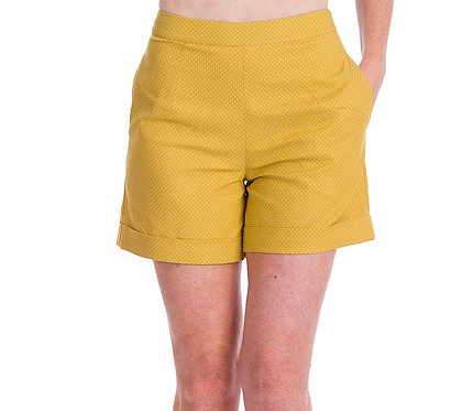 Spot Perfection Shorts in Mustard