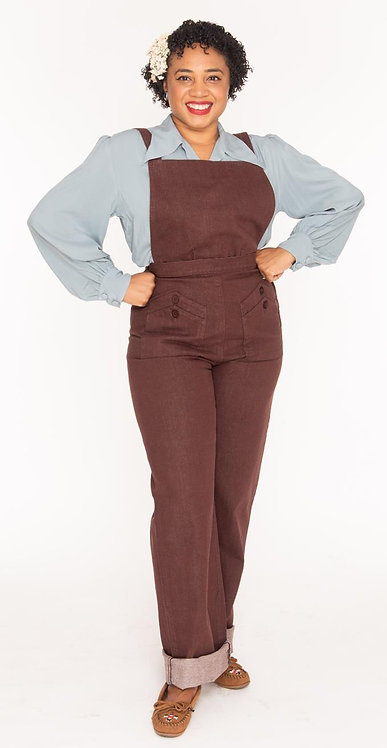 Freddies of Pinewood Brown Home Companion Dungarees