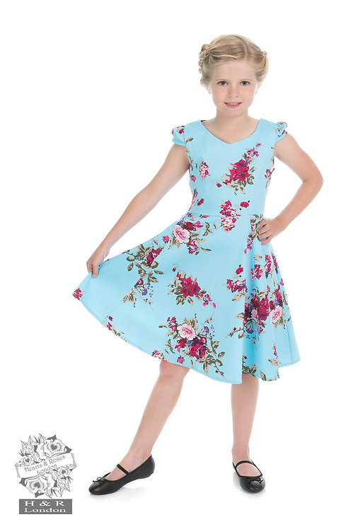 Blue Floral Tea Dress