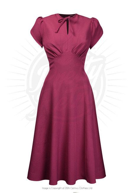Pretty 40's Starlet Dress in Dark Rose