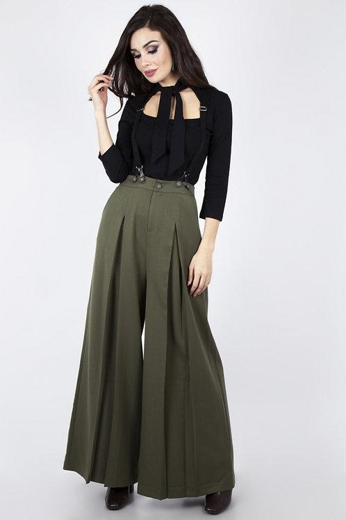 40's Wide Pleat Trousers