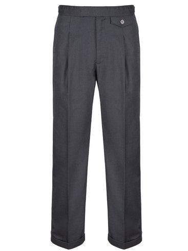 Revival 40's Fishtail Trousers - Mocha