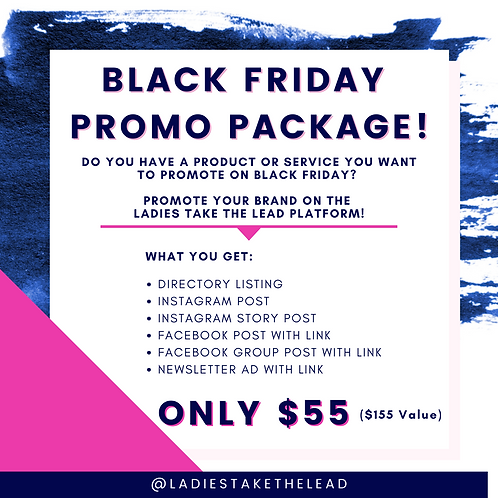 BLACK FRIDAY PROMO PACKAGE