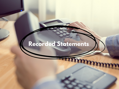RECORDED STATEMENTS