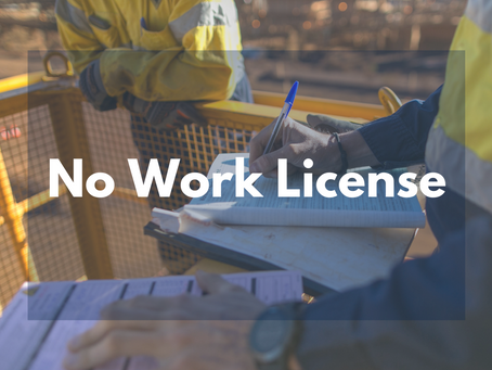 NO WORK LICENSE
