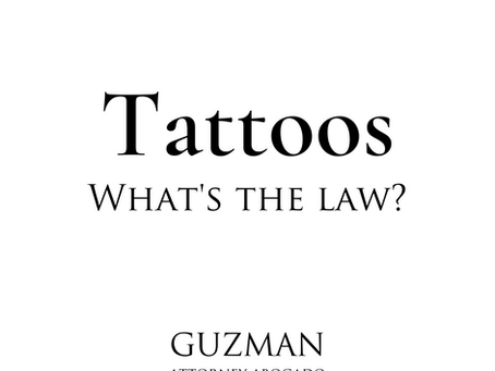 TATTOOS...WHAT'S THE LAW?