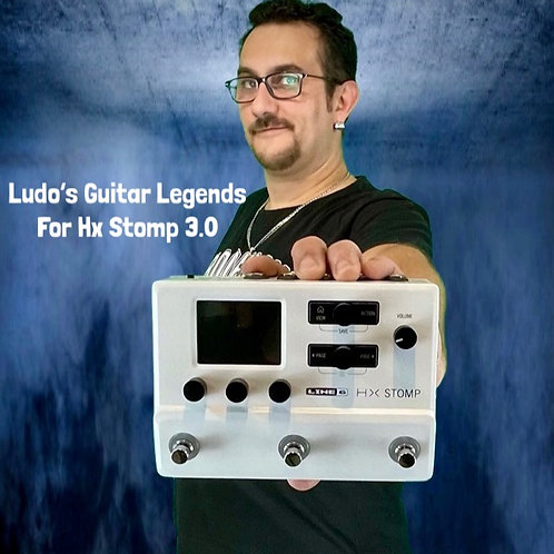 Hx Stomp Ludo's Guitar Legends 3.0 Pack 65 Presets