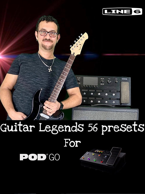 Ludo's Guitar Legends 56 Presets For POD GO