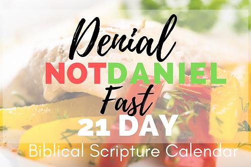 Denial Not Daniel Fast Calendar