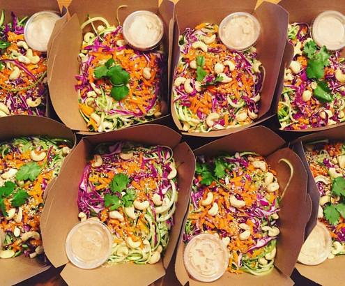 Raw Zuchinni Salad