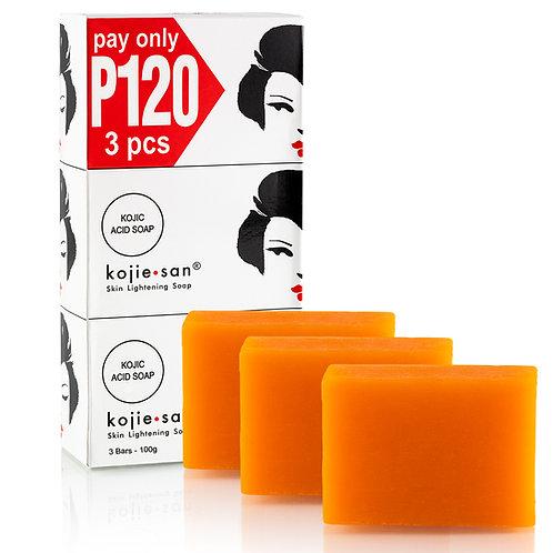 Kojie San Skin Lightening Soap (3 pcs) - 100 grams
