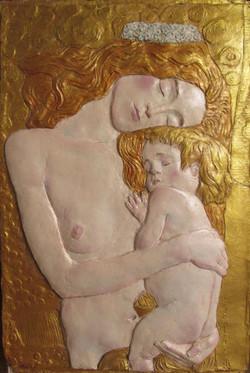 Relieve maternidad Klimt