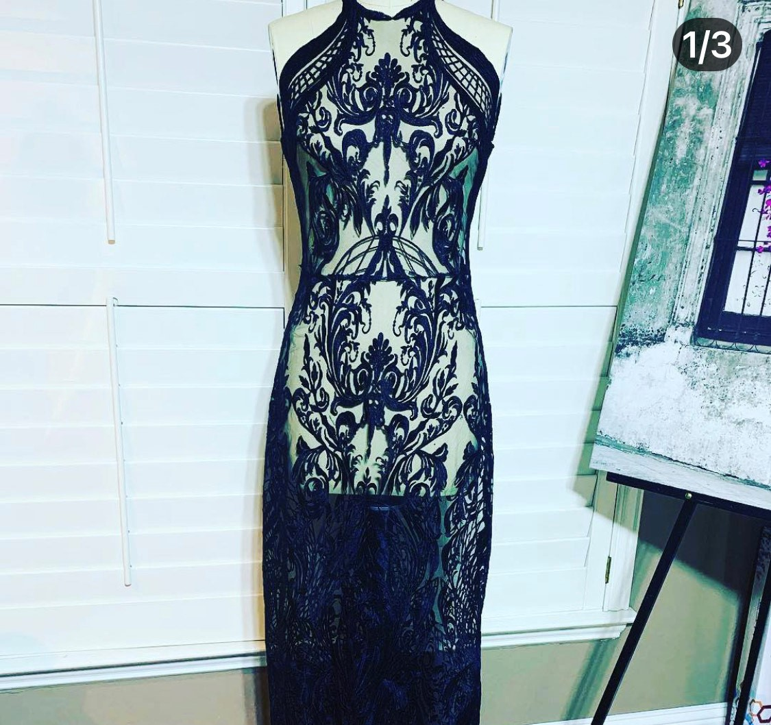 Black Lace custom Gown