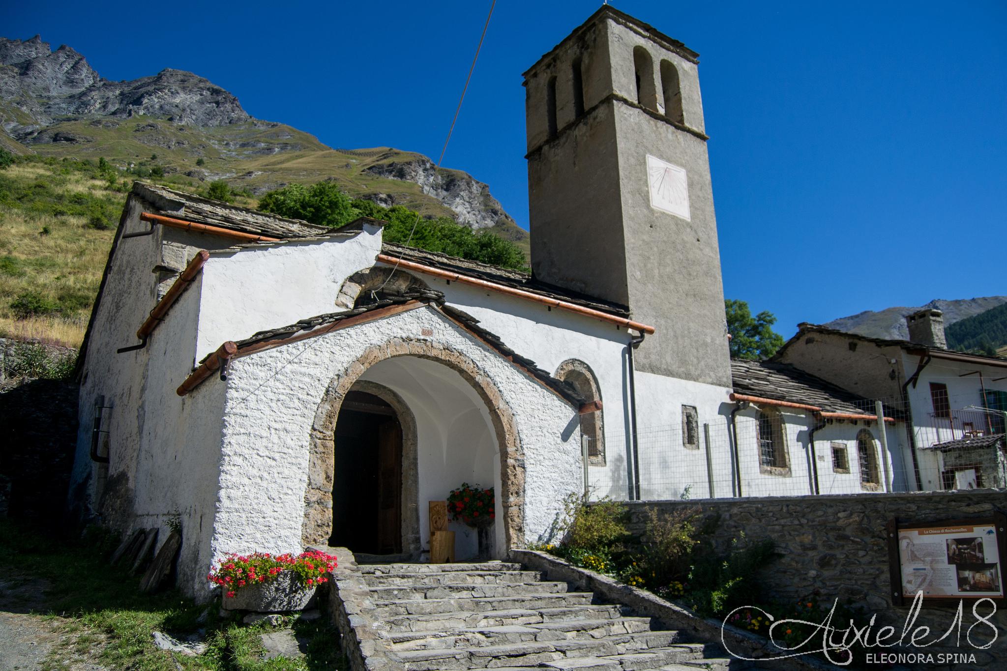 Esterno della chiesa di Rochemolles
