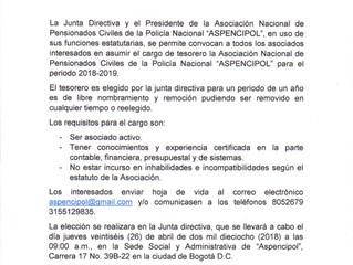CONVOCATORIA ELECCION REVISOR FISCAL